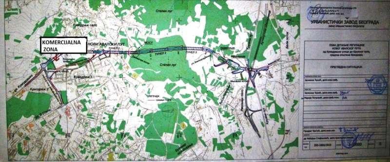 Novi Avalski put sa 4 trake,pozvartnica ka gradu na 50 metara
