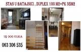 Beograd nekretnine - Prodajem stan u Batajnici , duplex 100 m2+Pk 35m2,uknjižen , 75000 eura